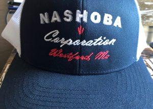 Nashoba Corp Blue Embroidered Hat