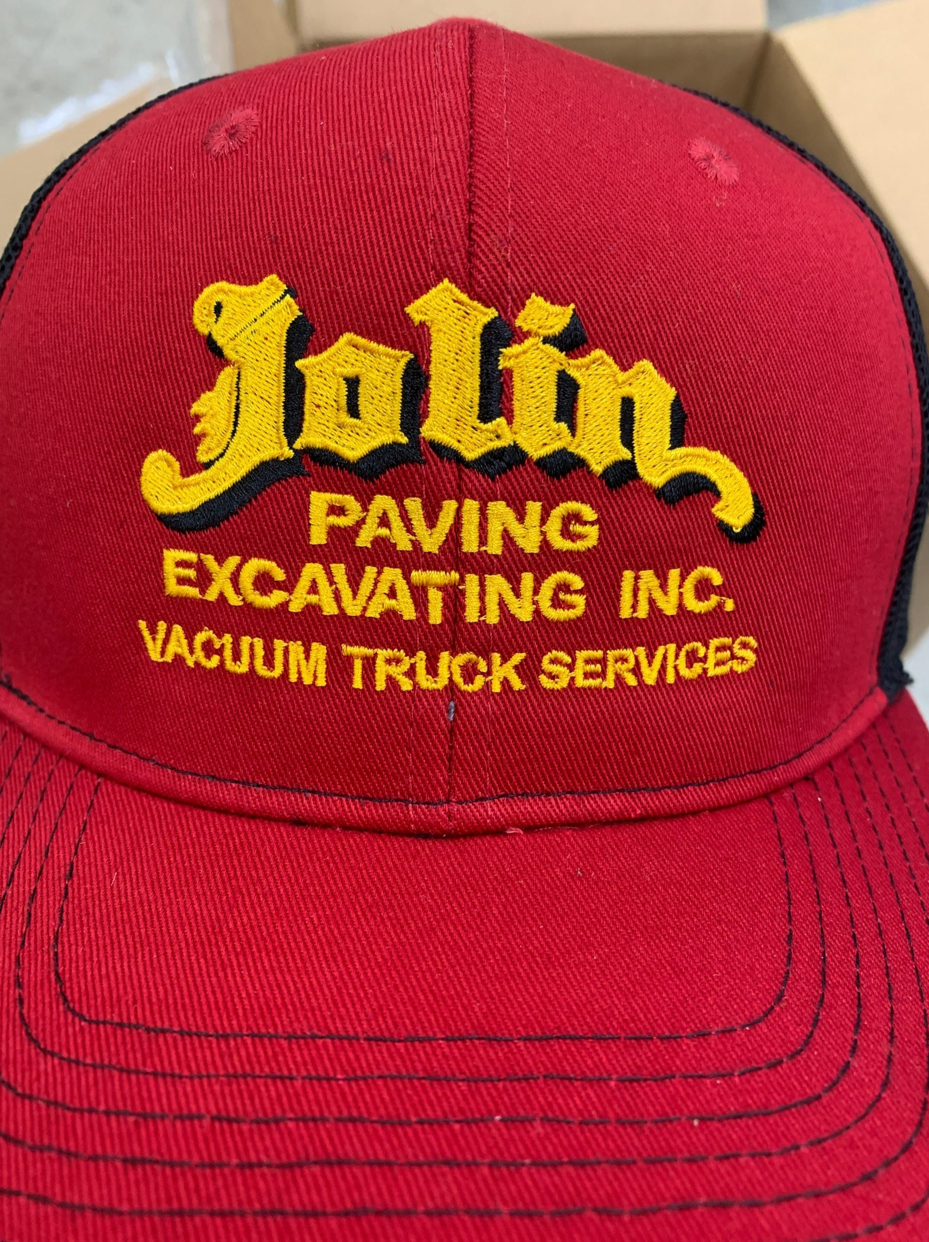 jolin paving embroidered hat