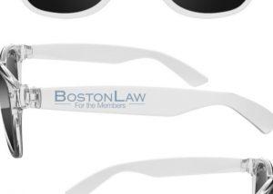 custom branded sunglasses boston law
